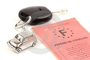 Key Car With Little Key Ring In Car's Shape Royalty Free Stock Photos - Image: 18224518