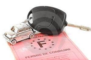 Key Car With Little Key Ring In Car's Shape Royalty Free Stock Photography - Image: 18224537