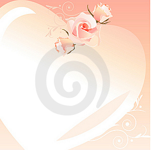 Delicate Heart-shaped Frame Stock Images - Image: 18224684