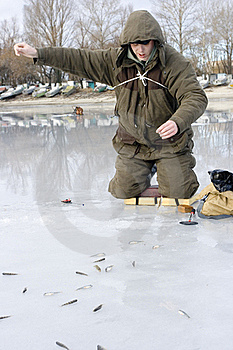 Fisherman. Ice Fishing Competition Stock Photos - Image: 18225983