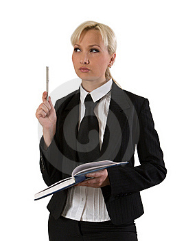 Business Woman Thinking. Royalty Free Stock Photo - Image: 18226015