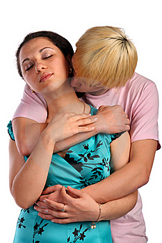 Young Man Embrace Girl From Behind Stock Photos - Image: 18227293