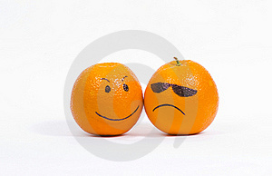 Two Orange Smiley Stock Photo - Image: 18228030