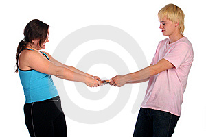 Man Vs Woman. Divide. Stock Images - Image: 18228134