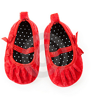 Red Baby Booties Royalty Free Stock Photos - Image: 18235298