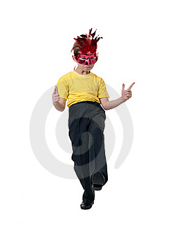 Boy In A Red Mask Stock Images - Image: 18235594