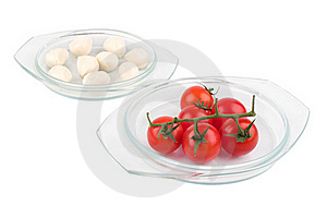 Fresh Red Tomatoes And Mozzarella Stock Images - Image: 18236664