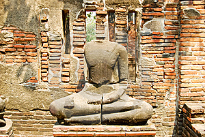 Ancient Buddha Stone Statue Stock Image - Image: 18237271