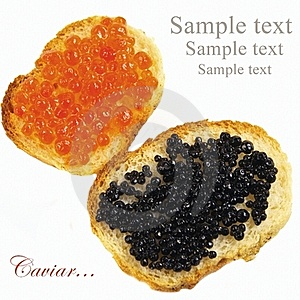Black And Red Caviar Royalty Free Stock Image - Image: 18238516