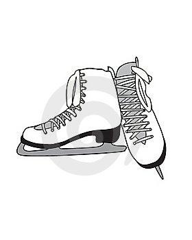 Figure Skates Royalty Free Stock Image - Image: 18239456
