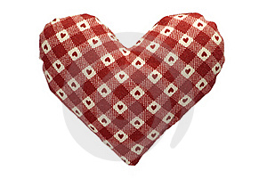 Stuffed Gingham Heart Stock Photo - Image: 18243090