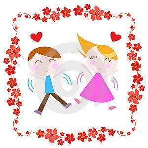 Couple With Border Stock Photo - Image: 18243340