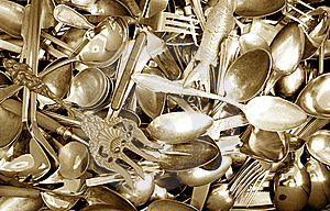 Spoons And Forks Royalty Free Stock Images - Image: 18244059