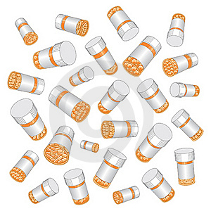 Prescription Drug Pill Bottles Stock Image - Image: 18244751