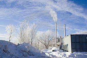 Winter Industrial Snow Royalty Free Stock Photography - Image: 18244987