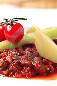 Vegetarian Red Bean And Tomato Recipe Stock Photography - Image: 18245632