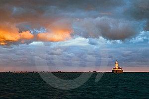 Chicago Harbor Lighthouse Stock Photo - Image: 18245690