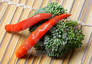 Pepper And Broccoli Royalty Free Stock Photography - Image: 18248397