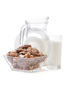 Glass Of Milk And Cookies Royalty Free Stock Image - Image: 18248736