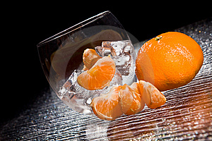 Mandarins On Ice - Cocktail Dessert Stock Images - Image: 18249654