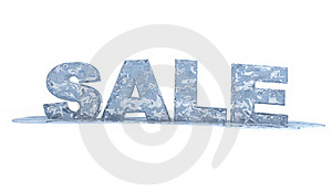 3d Sale Text - Frozen 3d Ice Sign Stock Photo - Image: 18250350