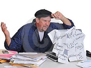 Man And His Financial Dilemna Stock Photography - Image: 18252492