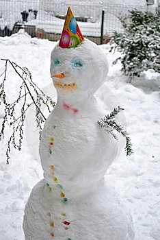 Winter snowman Royalty Free Stock Photography
