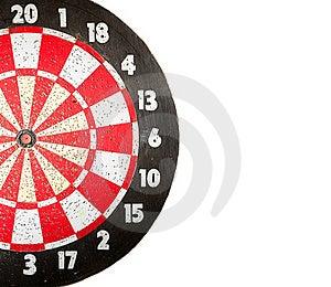 Dartboard On White Stock Images - Image: 18260234