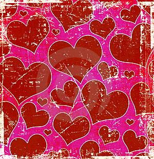 Grunge Hearts Background Royalty Free Stock Photos - Image: 18261088