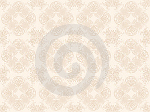 Beige Seamless Wallpaper Pattern Royalty Free Stock Images - Image: 18261269