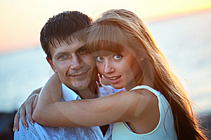 Portrait Of A Happy Young Couple. Stock Photo - Image: 18262080