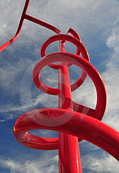 Red Jungle Gym Royalty Free Stock Images - Image: 18262109
