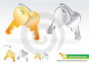 Vector Keys Set Royalty Free Stock Photography - Image: 18262257