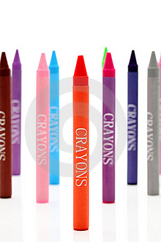 Colorful Crayons Royalty Free Stock Photography - Image: 18263957