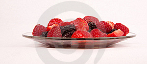 Plate Of Berries Stock Images - Image: 18264144
