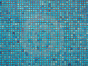Blue Mosaic Stock Images - Image: 18264294