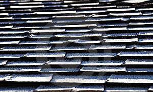 Frost On Roof Shingles Stock Photography - Image: 18264352