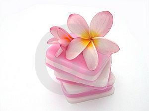 Frangipani On Pink Candle Stock Photography - Image: 18265962