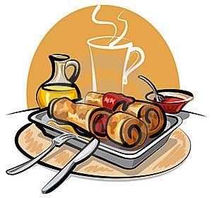 Pancakes With Jam Royalty Free Stock Image - Image: 18268146