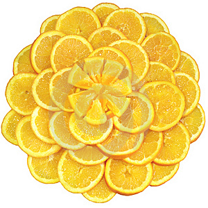 Oranges Cut On Segments Stock Photography - Image: 18272602