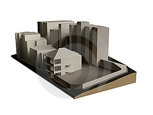 Buildings 3d Model Royalty Free Stock Photo - Image: 18273835