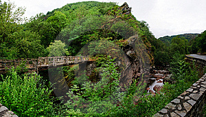 Bridge Over River Royalty Free Stock Photography - Image: 18274547