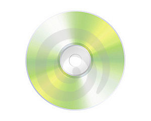 Compact Disk Isolated On White Royalty Free Stock Photos - Image: 18274978