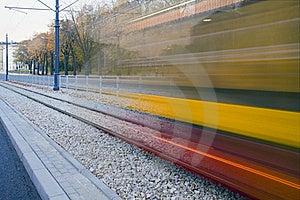Moving Tram Stock Image - Image: 18275091