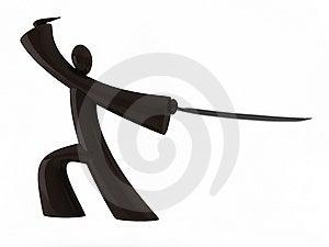 Wooden Samurai Stock Photos - Image: 18275093