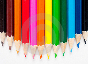 Varicolored Color Pencils Royalty Free Stock Photography - Image: 18275337