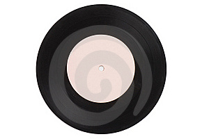 Vintage Vinyl Record On White Royalty Free Stock Images - Image: 18283039