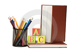 Back To School Concept With Books And Pencils Royalty Free Stock Image - Image: 18283066