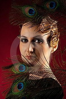 Vertical Portrait Of Elegant Woman Stock Image - Image: 18284281