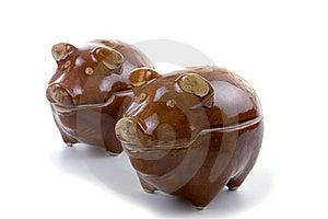 Ceramic Piggy Pots Stock Photo - Image: 18285010